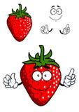 Ny röd jordgubbe för tecknad film Royaltyfria Foton