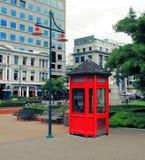 ny röd telefon zealand för ask Royaltyfria Bilder
