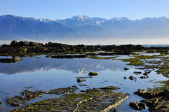 ny reflexion zealand för berg Fotografering för Bildbyråer