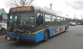 Ny reklambladtransportbuss Royaltyfri Fotografi
