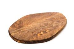 Ny rektangulär träskärbräda, bästa sikt som isoleras - bild arkivfoto