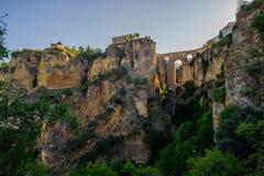 Ny Ronda bro från klyftan Arkivbild