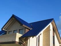 ny rooftop för hus Arkivfoton