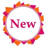 Ny rosa orange slumpmässig formcirkel stock illustrationer