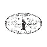 ny rubber stämpel york Arkivfoto