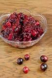 ny sås för cranberry royaltyfria bilder
