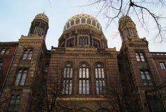 ny s synagoga för facade Arkivbilder