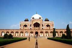ny s tomb för delhi humayun Arkivfoton
