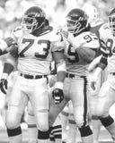 NY Sack Exchange. New York Jets defensive lineman Joe Klecko and Mark Gastineau make up part of the famous New York Sack Exchange Royalty Free Stock Photo