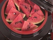 Ny saftig vattenmelon Arkivfoton