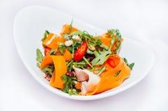 Ny sallad med morötter Royaltyfri Fotografi