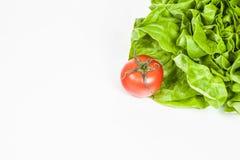 Ny sallad och bio tomat Royaltyfri Foto