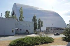 Ny sarcafagus av den 4th reaktorn Arkivbild