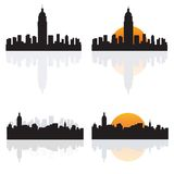 NY Schattenbilder vektor abbildung