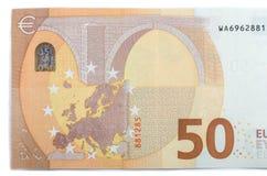 Ny sedel av femtio isolerade euro Royaltyfri Bild