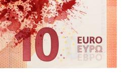 Ny sedel för euro tio, närbild Royaltyfri Bild