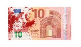 Ny sedel för euro tio, närbild Arkivfoton