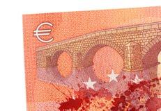 Ny sedel för euro tio, närbild Royaltyfri Fotografi