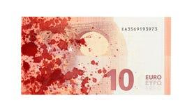 Ny sedel för euro tio, närbild Arkivbild