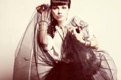 ny sexig ändrings-stående för härligt mode Fotografering för Bildbyråer