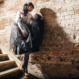 ny sexig ändrings-stående för härligt mode Royaltyfria Foton