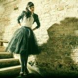 ny sexig ändrings-stående för härligt mode Arkivfoto