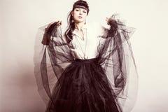 ny sexig ändrings-stående för härligt mode royaltyfria bilder