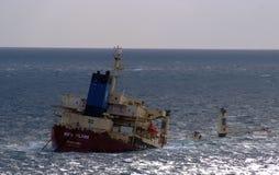 ny ship för lastflamma Royaltyfria Bilder