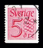 Ny siffer- typportostämpel, serie, circa 1951 Royaltyfri Fotografi