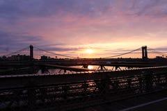 ny sikt york för brostad Arkivbilder