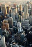 ny sikt york för flyg- stad Royaltyfria Bilder
