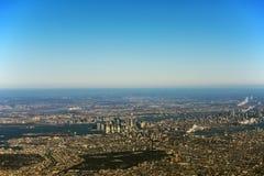 ny sikt york för flyg- stad Arkivfoto
