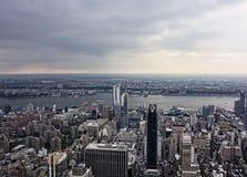 ny sikt york för flyg- stad Royaltyfri Fotografi