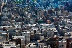 ny sikt york för flyg- stadsmidtown Fotografering för Bildbyråer
