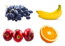 Ny skivad orange frukt, filial av blåa druvor Royaltyfria Bilder