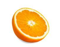 Ny skivad orange fruktisolering på vit Arkivfoton