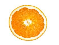 Ny skivad orange fruktisolering på vit Arkivbild