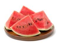 ny skivad vattenmelon Arkivbild