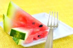 ny skivad vattenmelon Arkivfoton