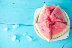 ny skivad vattenmelon Arkivfoto