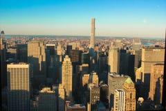 NY Skyline Dusk Stock Images