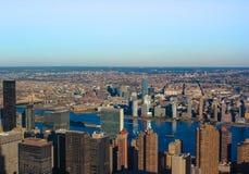 NY Skyline Dusk Stock Photo