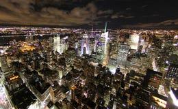 Ny skyline night Royalty Free Stock Photography