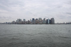 Gray NY skyline Royalty Free Stock Photos
