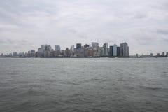 Gray NY skyline royalty free stock photos