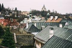 Ny slott i Banska Stiavnica, historisk minning stad, Slovakien Royaltyfria Foton
