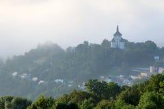 Ny slott i Banska Stiavnica, Slovakien Arkivbild