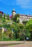 Ny slott och dess terrass i Baden Baden Germany Royaltyfria Bilder