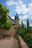 Ny slott på dess terrass i Baden Baden Royaltyfri Fotografi