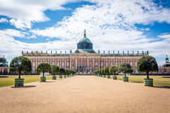 Ny slott (tysk: Neues Palais) i Postdam Royaltyfri Fotografi